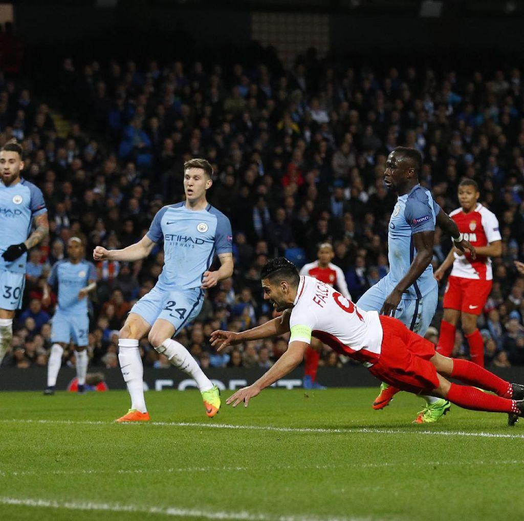 Monaco Ungguli City 2-1 di Babak Pertama