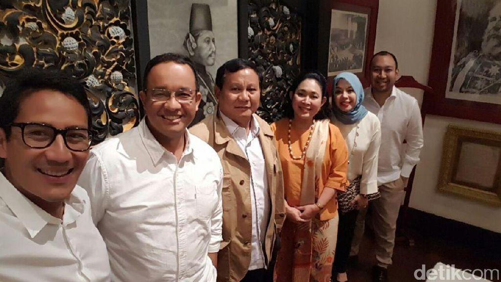 Prabowo Ketemu Parpol Pengusung Agus-Sylvi, Sandiaga: Hasil Bagus