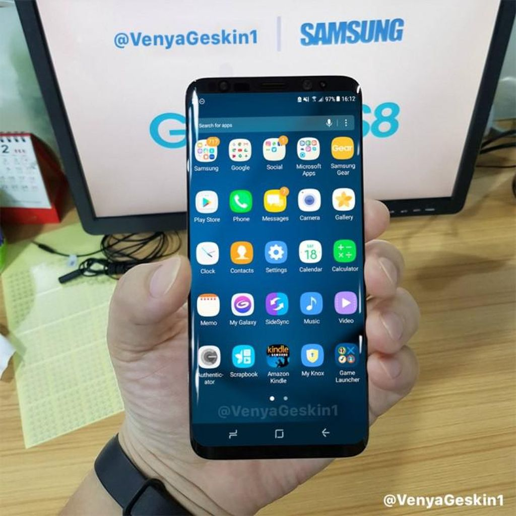 Wujud Keren Galaxy S8 Terungkap Terang-terangan