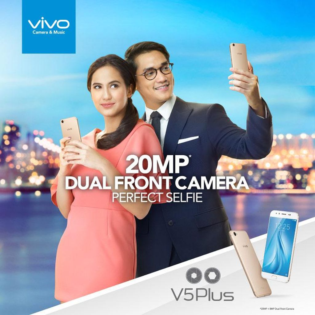 Usung Dual Front Camera & Hi-Fi Music, Vivo V5Plus Makin Unggul