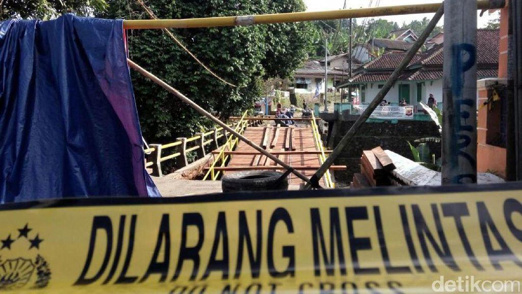 Jembatan yang Ambruk di Sukabumi Baru Selesai Dibangun Dananya Rp 300 Juta