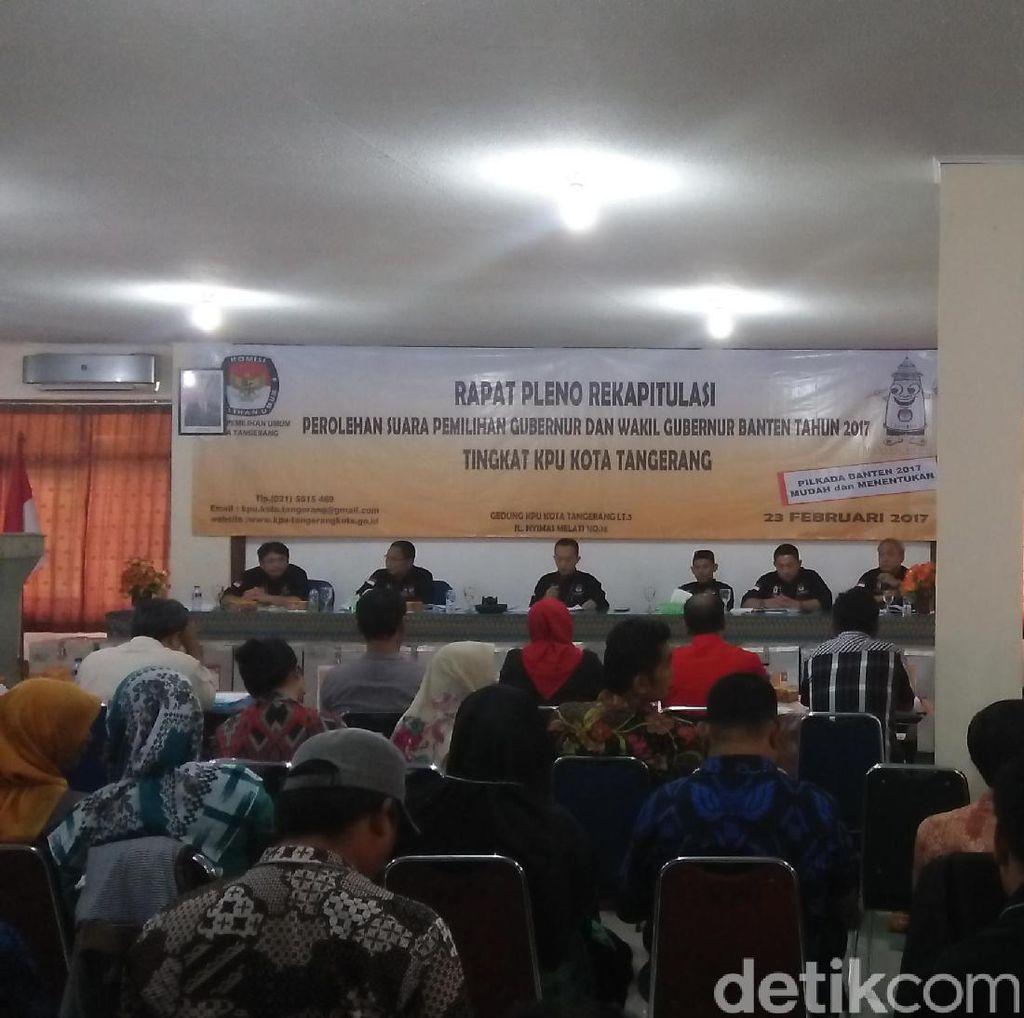 Saksi Rano-Embay Walk Out dari Pleno KPU Kota Tangerang