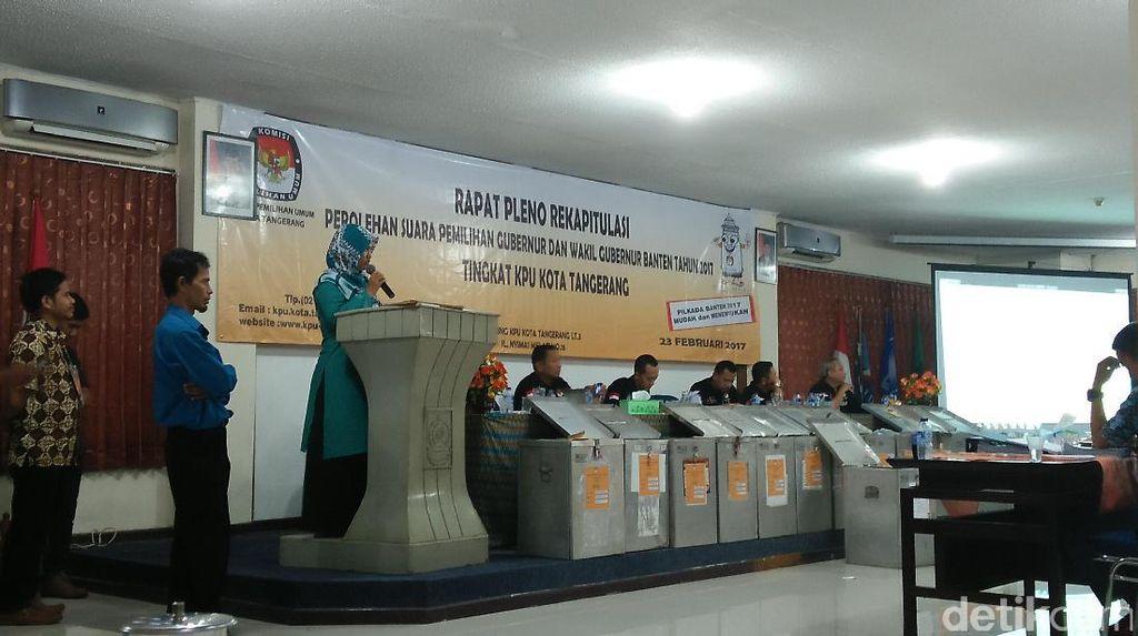 Pleno KPU Kota Tangerang: Pasangan WH-Andika Unggul