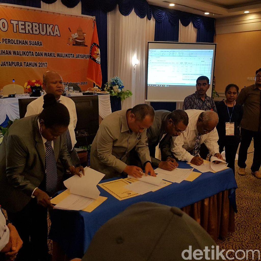 Pleno KPU Kota Jayapura Tetapkan BTM-Rustan Pemenang Pilkada