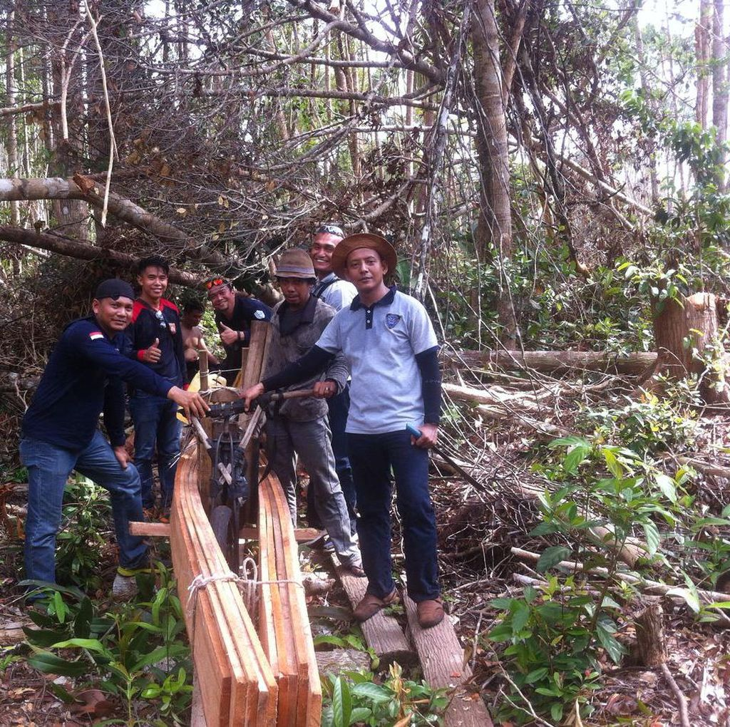 Polres Meranti Bongkar Kasus Illegal Logging