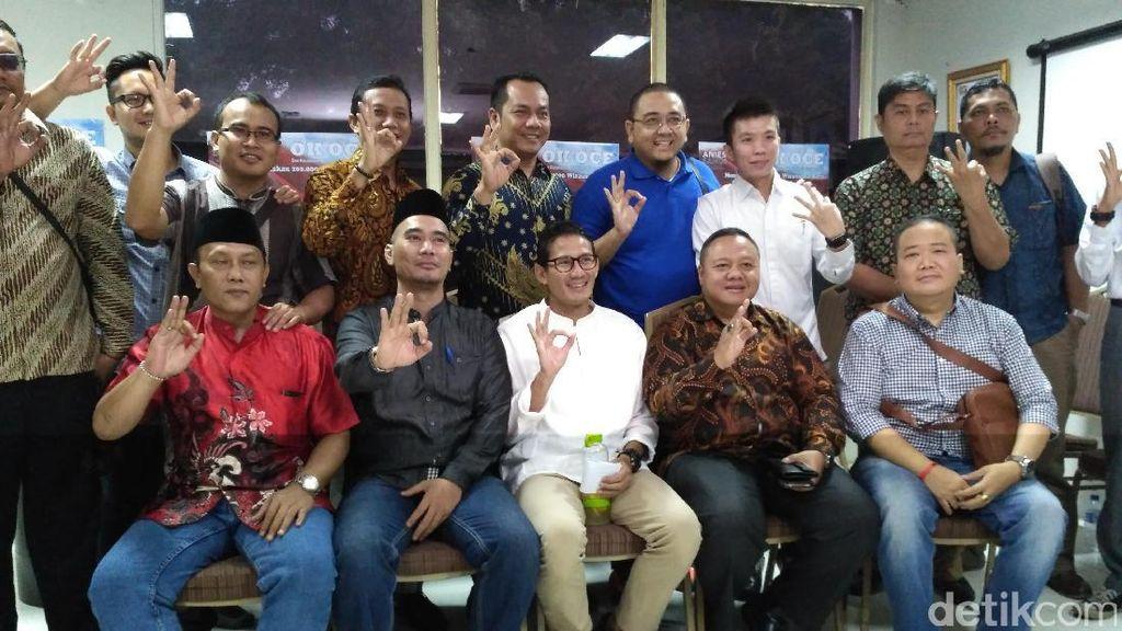 Bertemu Forum Jakarta Sejahtera, Sandiaga Bahas Solusi Masalah di DKI