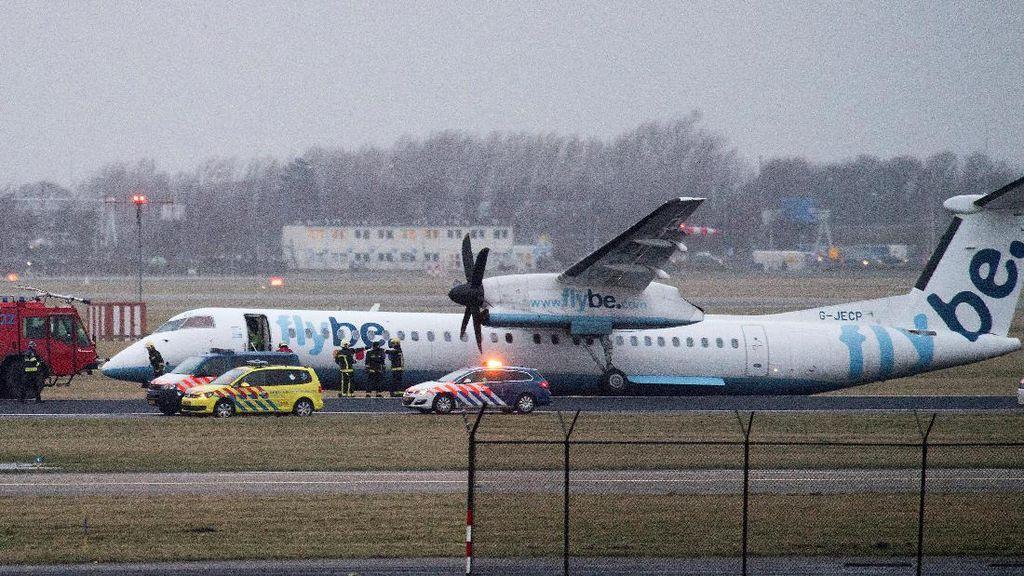 Pesawat Maskapai Inggris Tergelincir di Amsterdam
