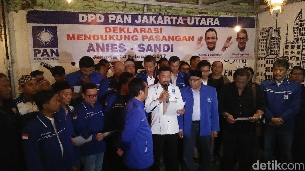 DPD PAN Jakut Dukung Anies-Sandi di Putaran Kedua Pilgub DKI