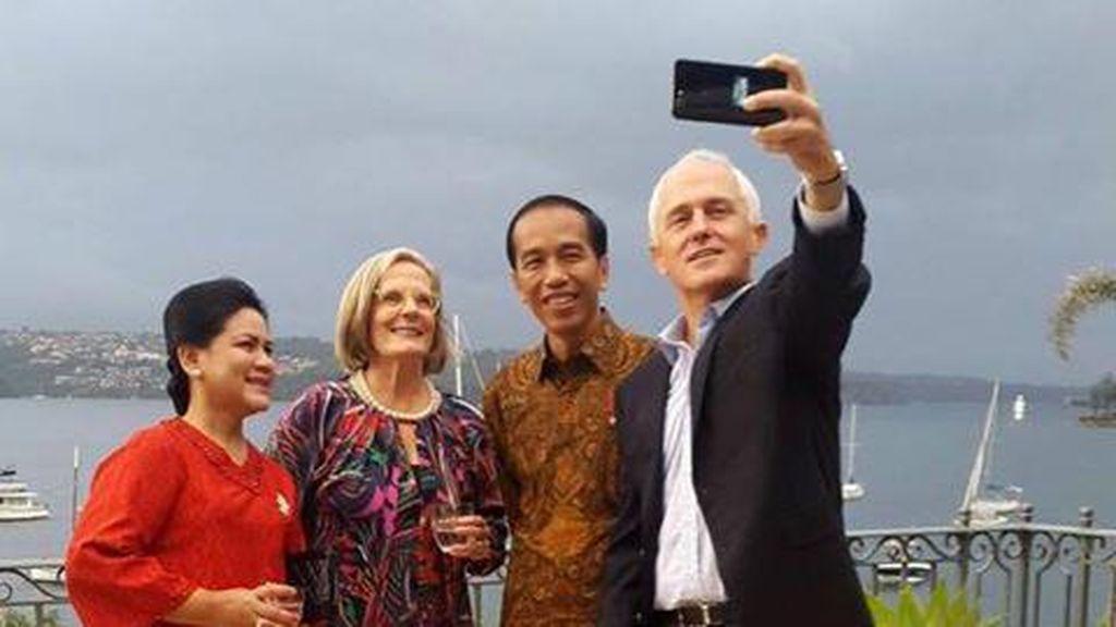 Hari Kedua di Australia, Jokowi Bertemu PM Turnbull dan Sapa WNI