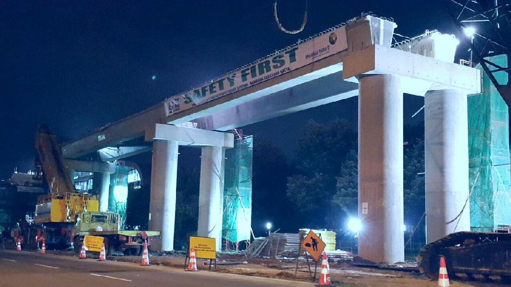 Pembangunan Skytrain Bandara Soekarno-Hatta Sudah 60%