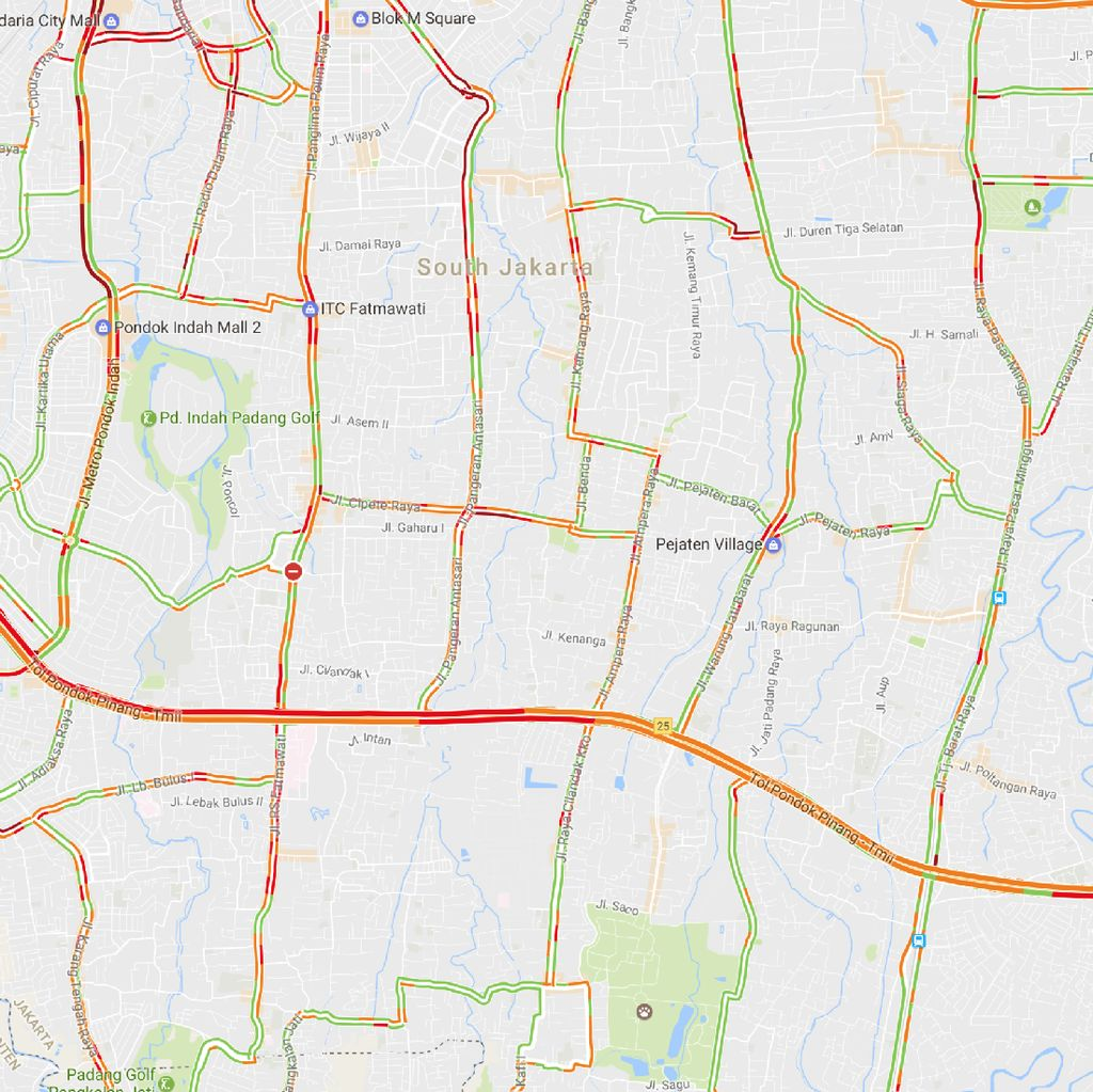 Hujan Guyur Jakarta, Tol JORR Arah TMII Macet 7 Km