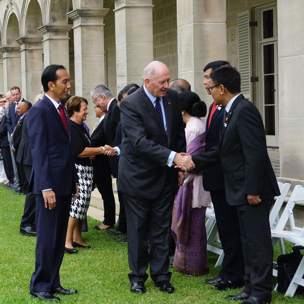 Kunjungan Jokowi di Australia Ditutup dengan Upacara Kenegaraan