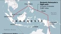 Begini Rute Melingkar Pesawat PM Israel Hindari Wilayah Indonesia