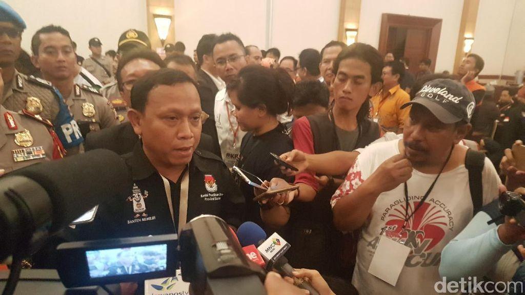 KPU Banten: Wahidin-Andika 50,95%, Rano-Embay 49,05%