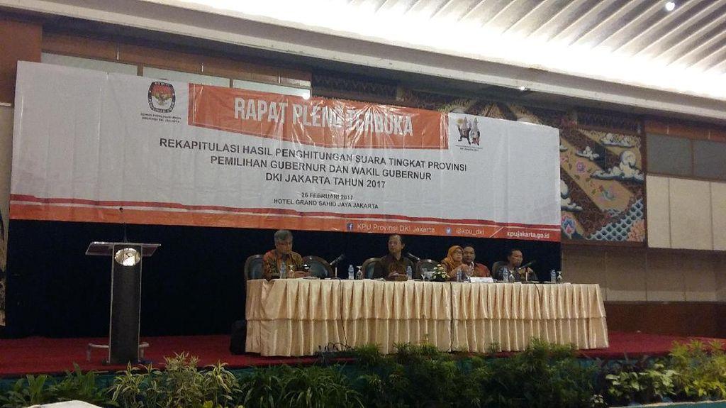 KPU DKI Gelar Pleno Rekapitulasi Perhitungan Suara Pilgub DKI