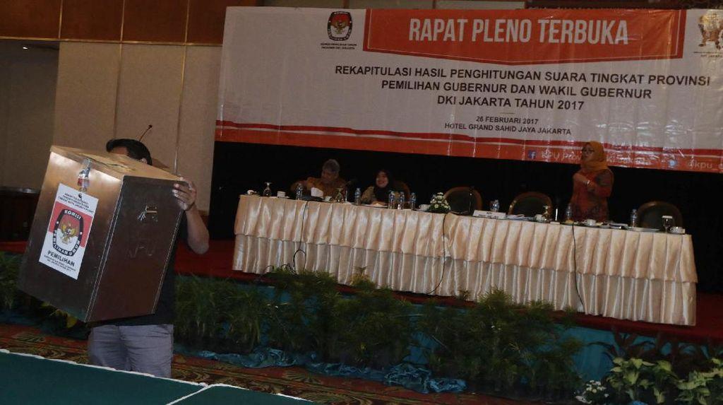 Rekapitulasi Suara Pilkada DKI Tingkat Provinsi