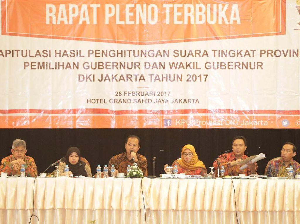 KPU DKI Beri Waktu 3 Hari Bila Paslon Ingin Ajukan Gugatan ke MK