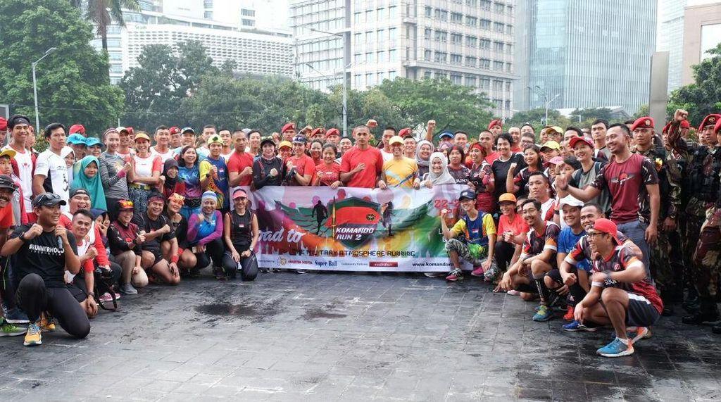 Peringati Ulang Tahun ke-65, Kopassus Gelar Komando Run II di Bulan April