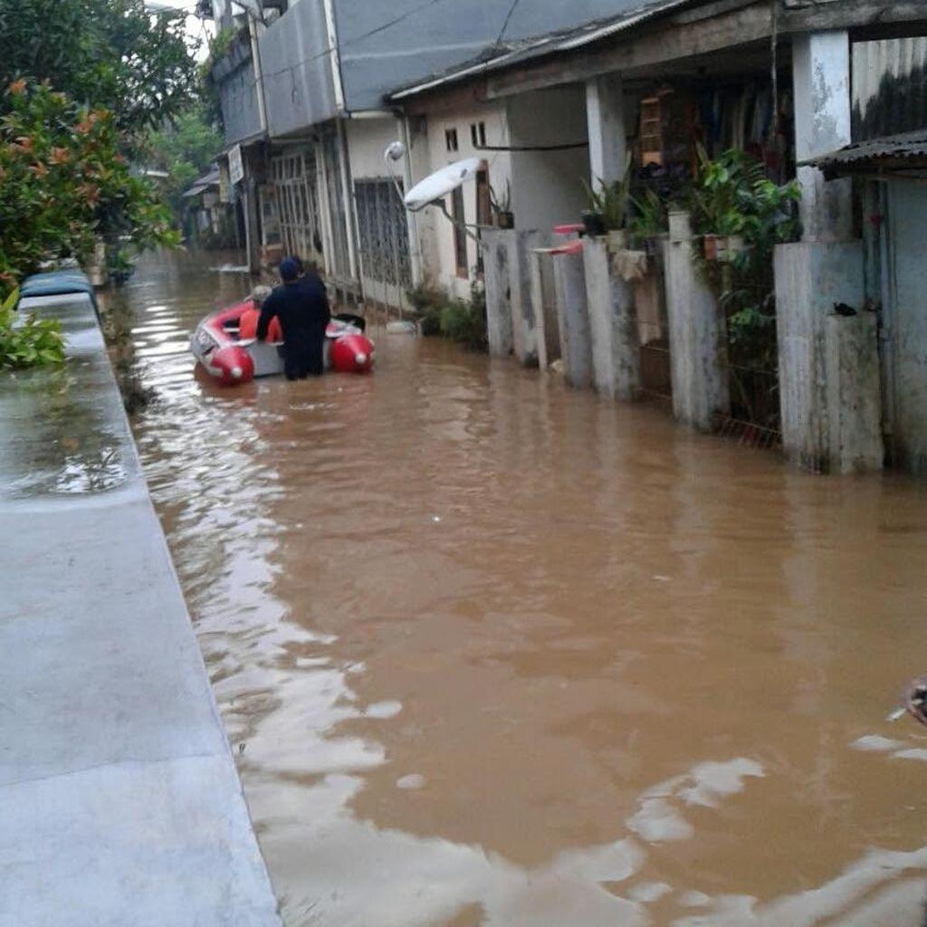Kawasan Cipinang Melayu Kembali Terendam Banjir