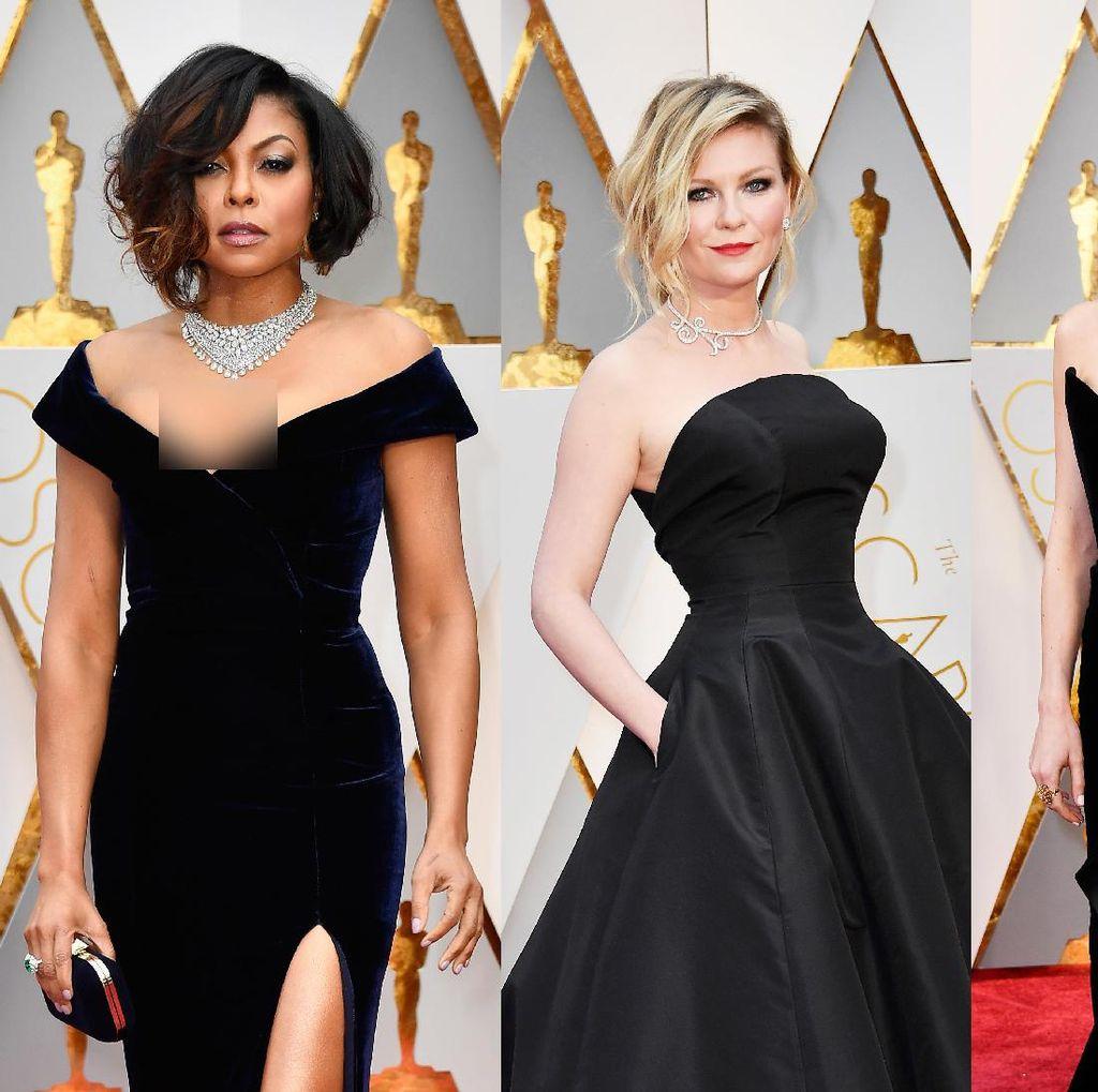 Hot In Black! Balutan Busana Hitam Nan Seksi di Oscar 2017
