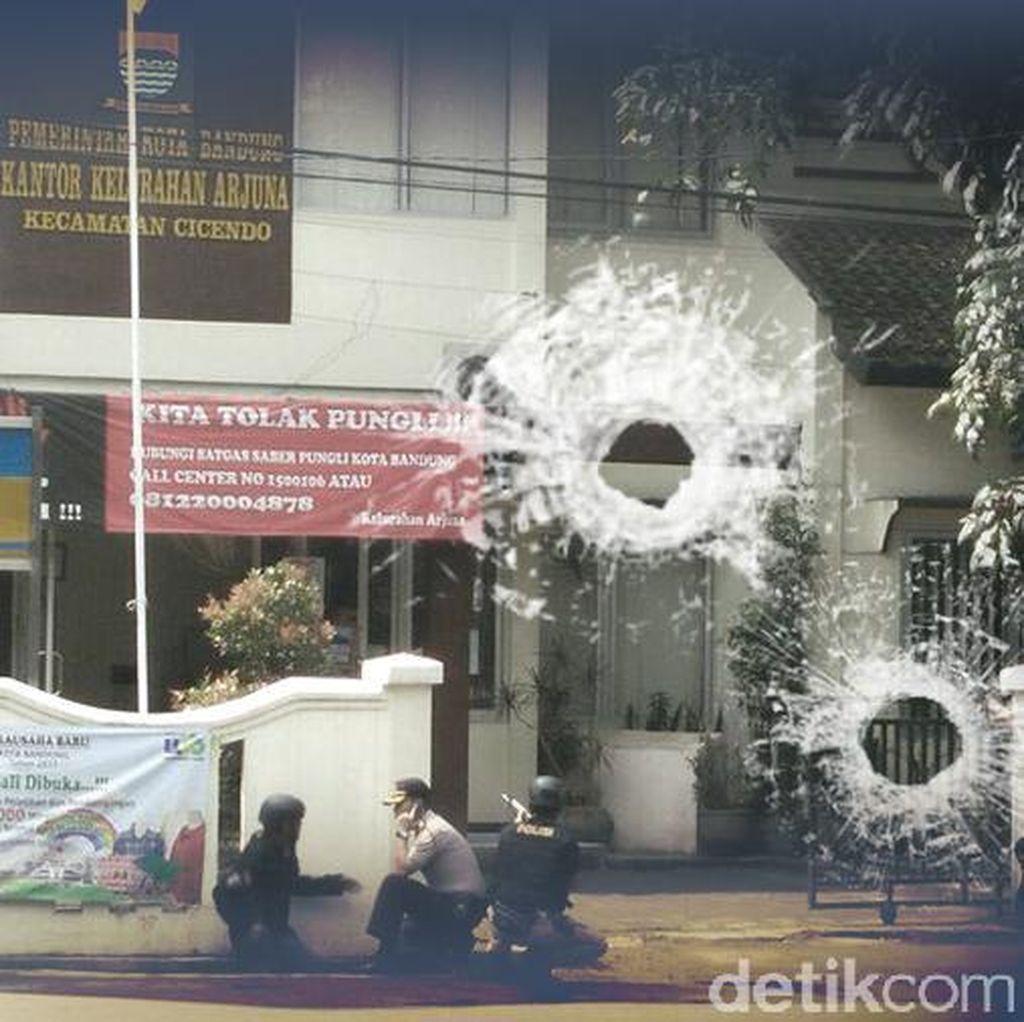 Polisi dan Pelaku Bom Panci di Cicendo Bandung Sempat Baku Tembak