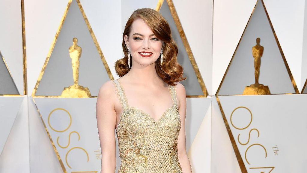 Foto: Cantiknya Emma Stone, Peraih Aktris Terbaik di Oscar 2017
