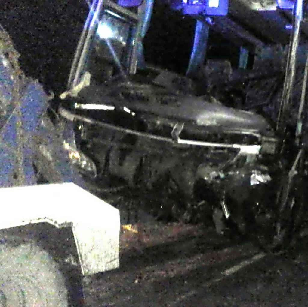 Ini Kondisi Bus yang Tabrak Warung hingga 4 Motor di Sukabumi