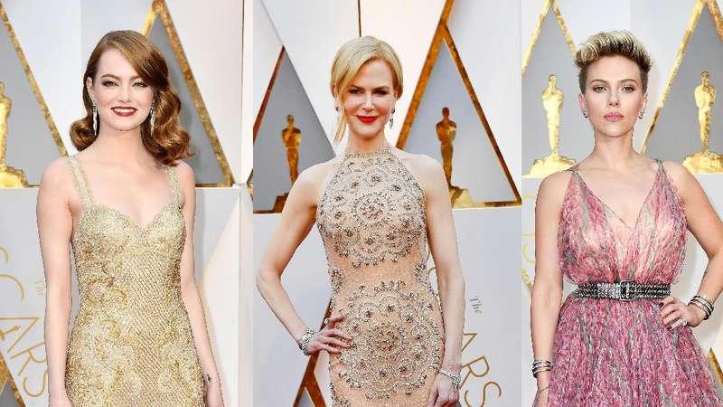 Pesona Para Aktris Cantik di Red Carpet Oscar 2017 (2)