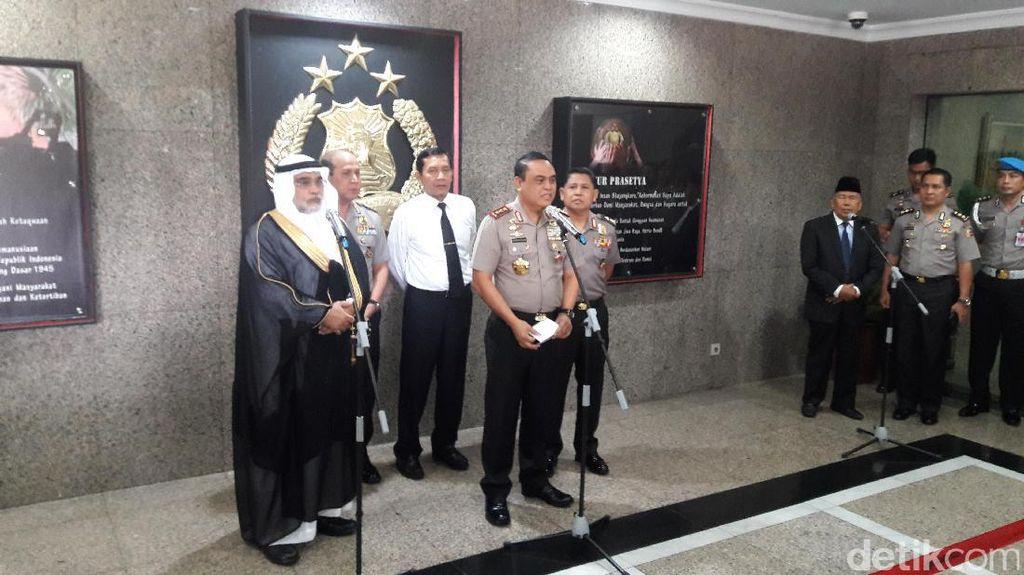 Kunjungi Mabes Polri, Dubes Saudi Apresiasi Keamanan Indonesia