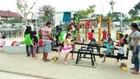 Untuk anak-anak ada juga tempat bermain khusus. Orang tua bisa dengan aman membiarkan anak-anaknya bermain di sini (Bonauli/detikTravel)