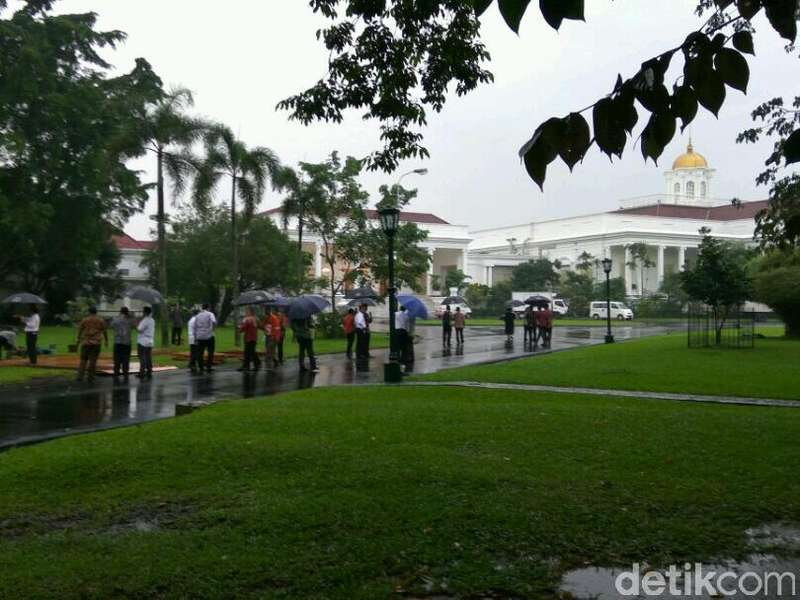 Mengintip Persiapan Istana Bogor Jelang Kedatangan Raja Salman