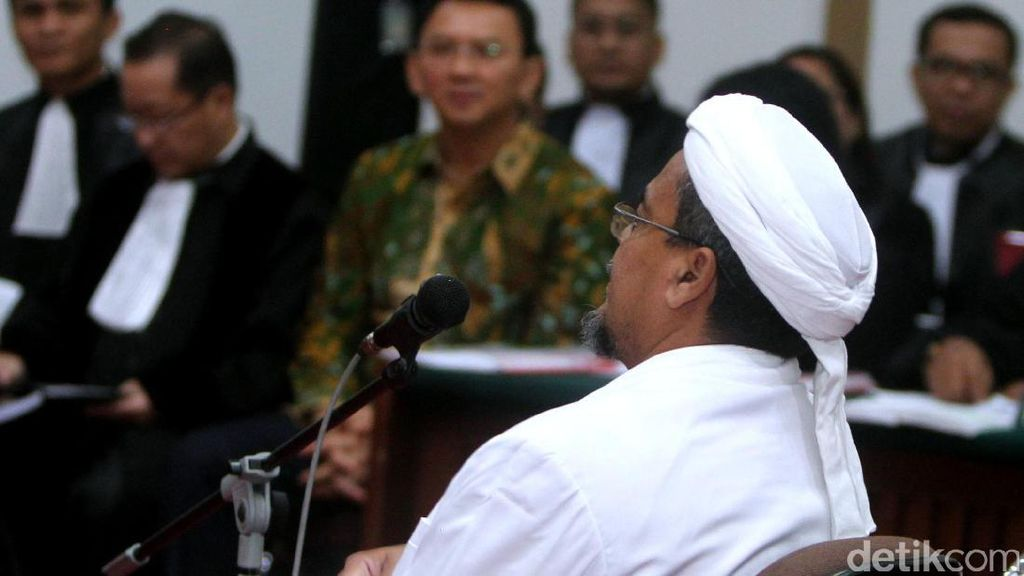 Pengacara Ahok Tak Ajukan Pertanyaan ke Habib Rizieq