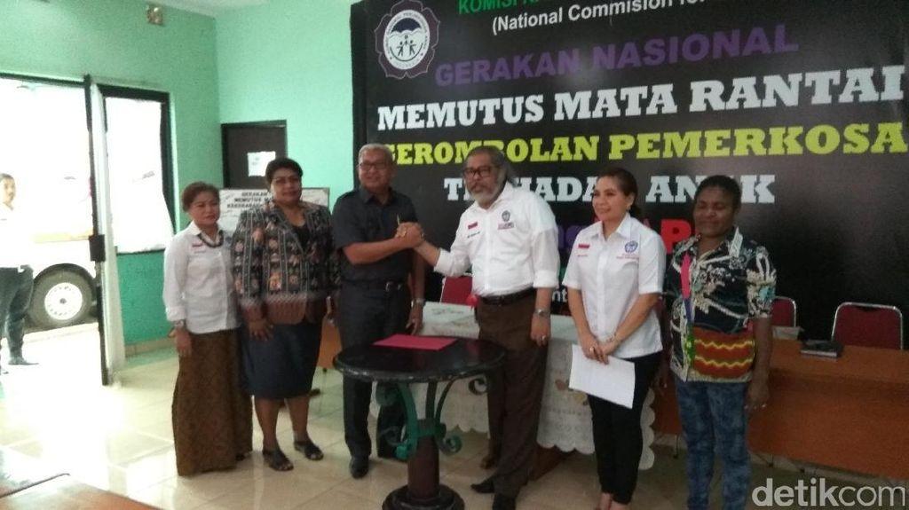Komnas PA Serahkan Anak Papua Korban Kekerasan ke Pemkab Mimika
