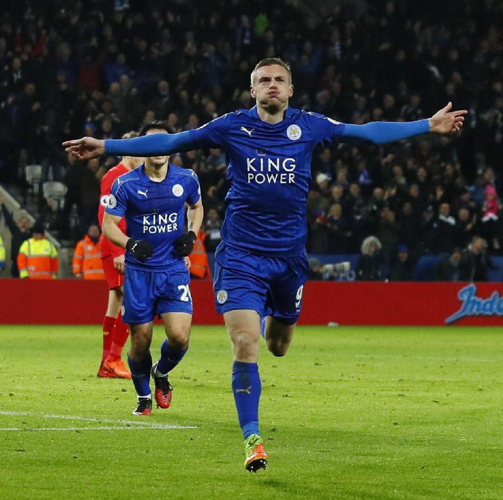 Vardy Dua Gol, Leicester Tundukkan Liverpool 3-1