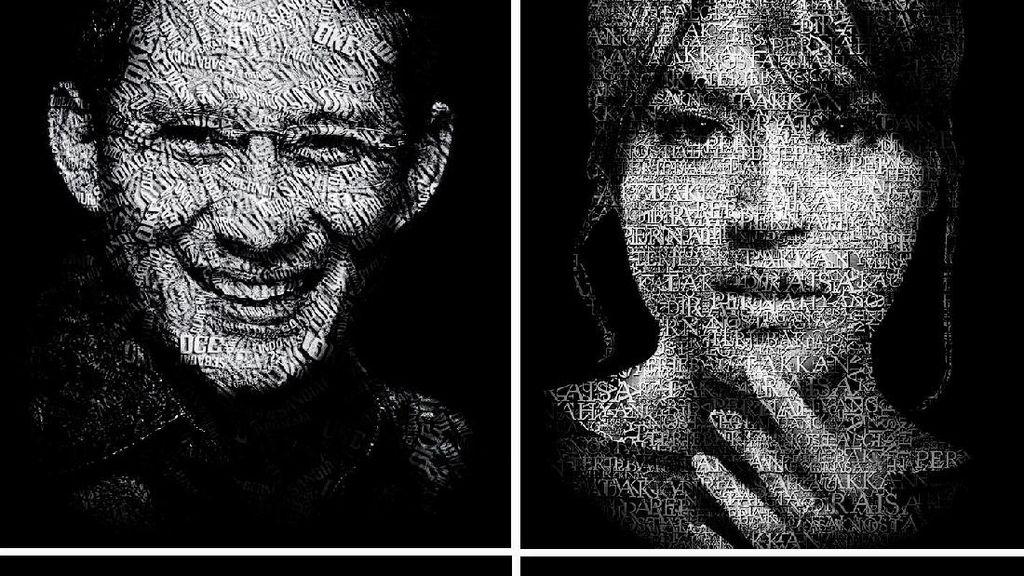 Menulis Cerita di Wajah dengan Portrait Typography