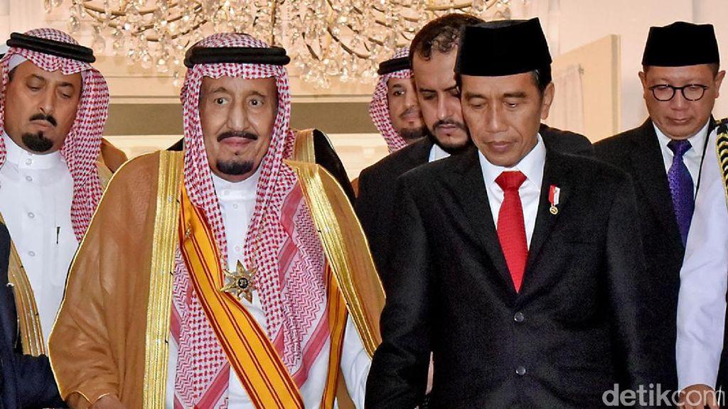 Jokowi Abadikan Momen Makan Siang dengan Raja Salman Lewat Vlog