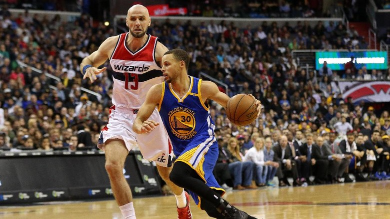 Durant Cedera, Warriors Ditumbangkan Wizards
