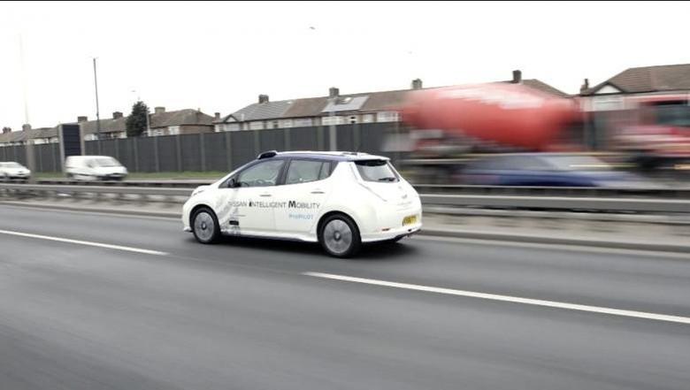 Untuk Pertama Kali Mobil Otonom Nissan Beredar di Eropa