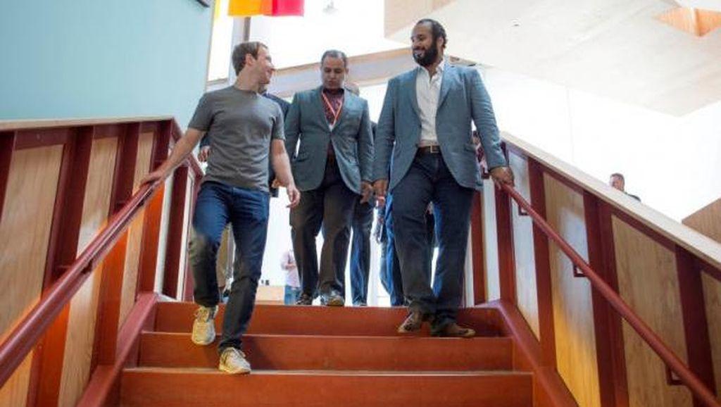Keakraban Pangeran Arab dengan Zuckerberg