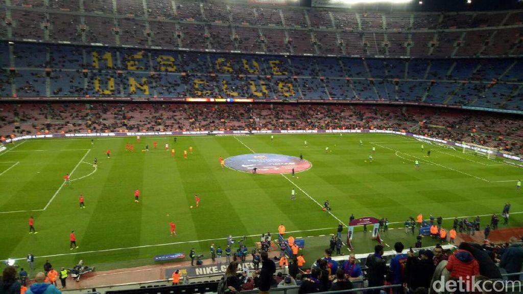 Aksi Barca Melumat Sporting Gijon dari Oppo F1s