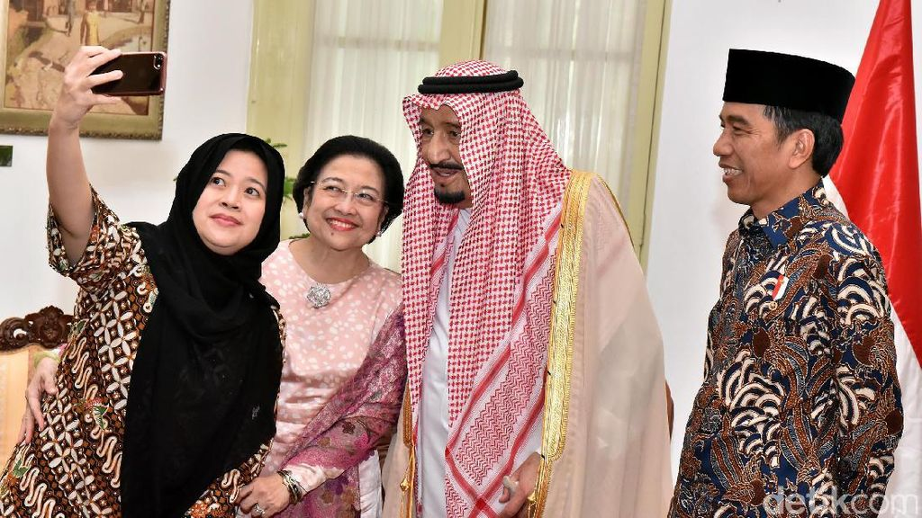 Mega, Jokowi dan Puan Wefie dengan Raja Salman