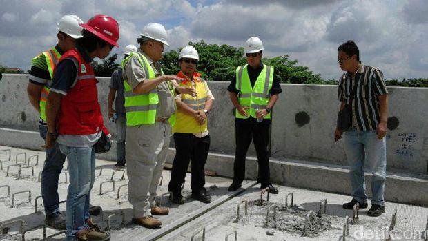 Gubernur Sumsel cek pembangunan fisik LRT Palembang