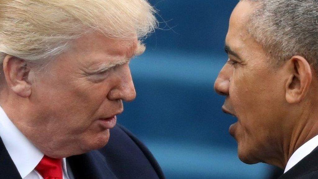 Trump Menuding Obama Menyadap Teleponnya
