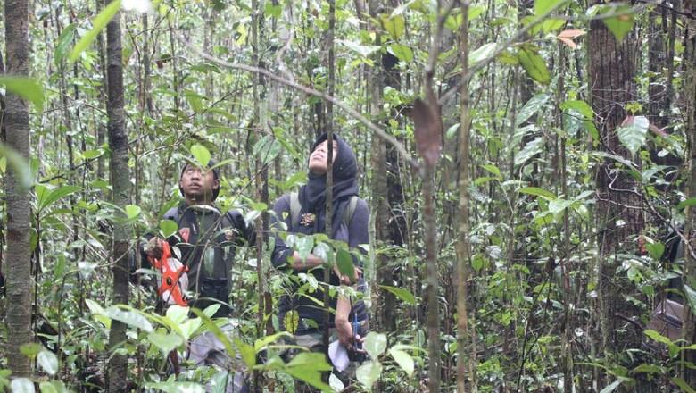 Foto: Siti Maimunah dan Hutan Adat Ulin Mungku Baru (Dok. pribadi Siti Maimunah)