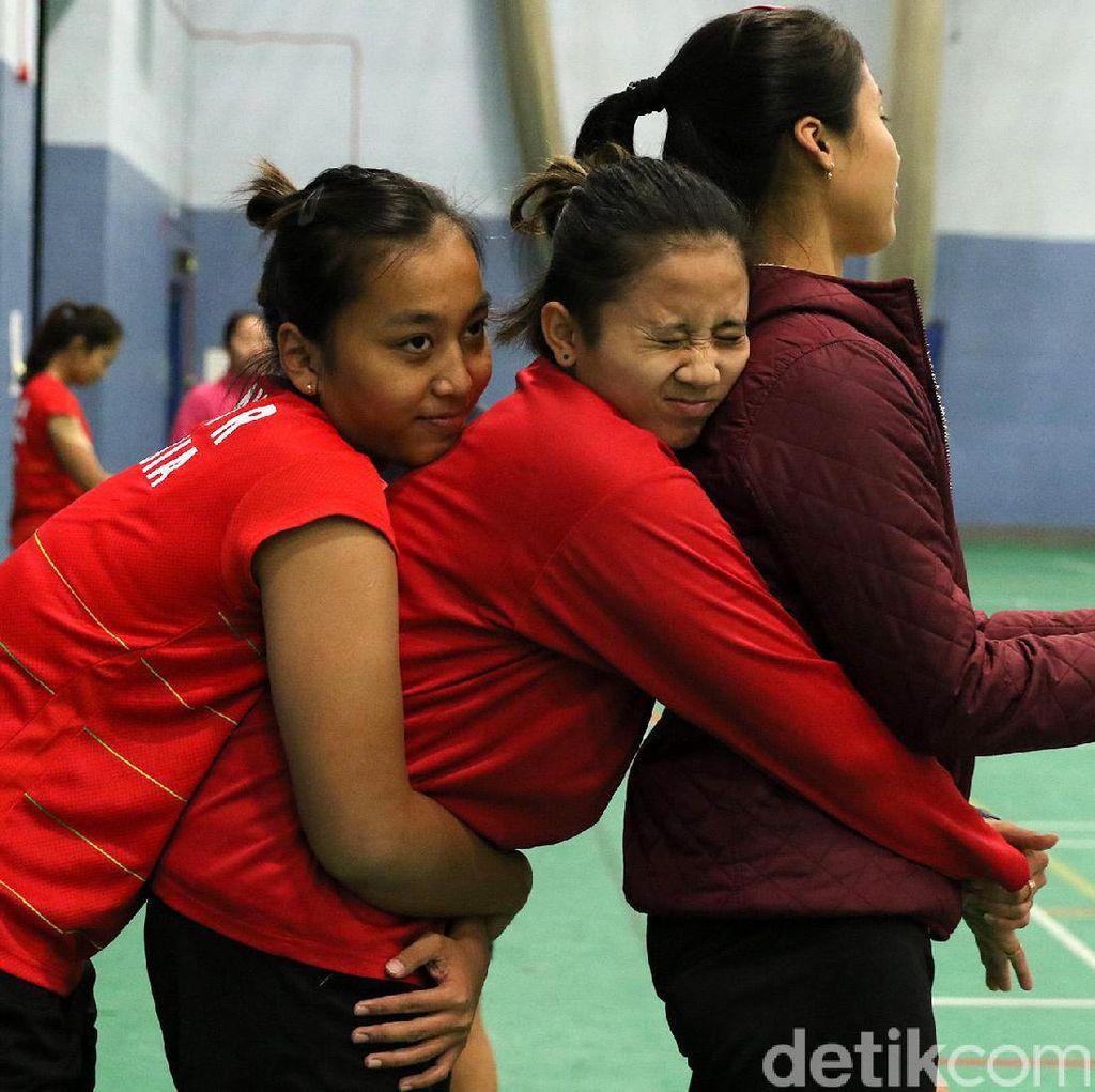 Serunya Latihan Pasukan Merah Putih di All England Terbuka