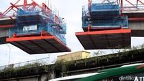 Pemasangan Box Girder MRT Jakarta