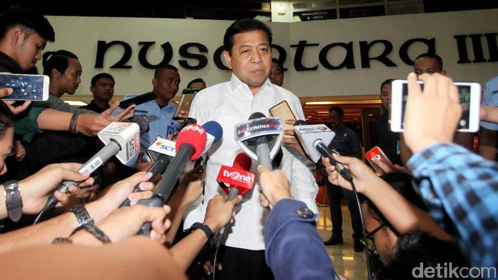 Golkar Disebut di Sidang e-KTP, Novanto: Itu Urusan Pengadilan