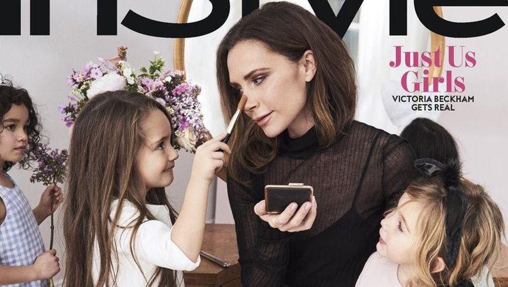 Foto: Manisnya Victoria Beckham Main Dandan-dandanan dengan Anak-anak