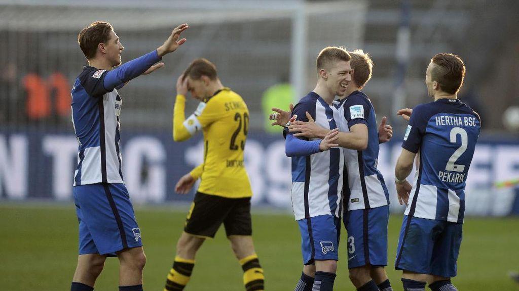 Dortmund Takluk 1-2 dari Hertha Berlin
