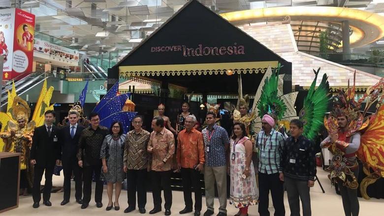 Foto: Wonderful Indonesia akan sambut traveler di Bandara Changi, Singapura (dok Kemenpar)